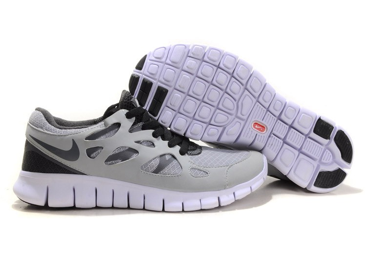 Nike Free Run+ 2 Mens Running Shoes Stealth Black White