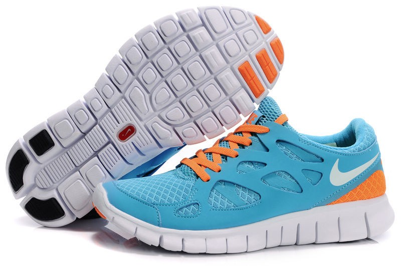 Nike Free Run+ 2 Mens Running Shoes Turquoise White Orange