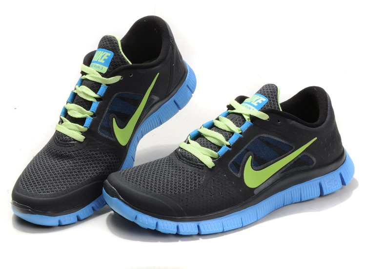 Nike Free Run+ 3 Men\'s Running Shoe Black Jade Green