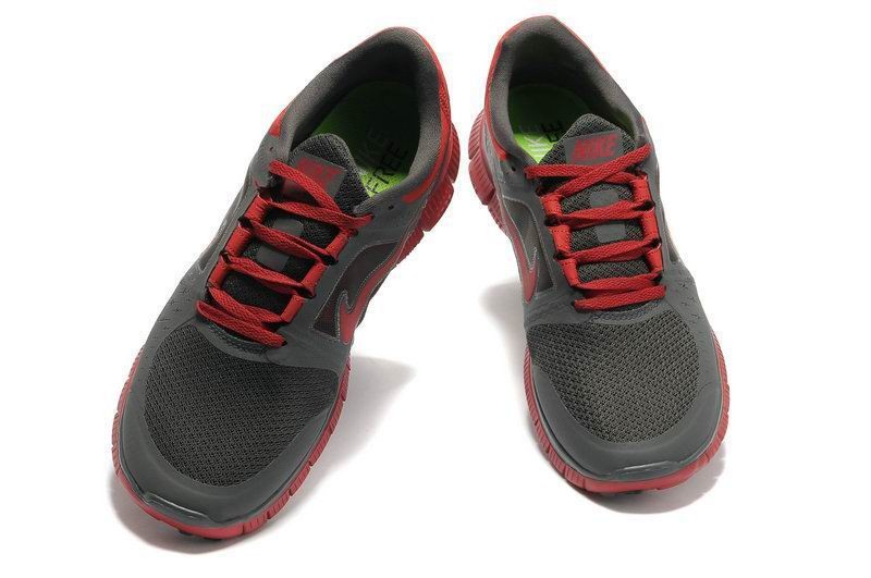 Nike Free Run+ 3 Men\'s Running Shoe Charcoal Red