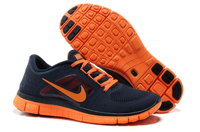 Nike Free Run+ 3 Men's Running Shoe Dark Blue Orange