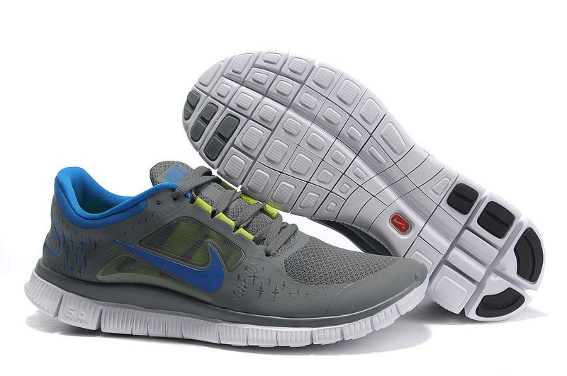 Nike Free Run+ 3 Men's Running Shoe Dark Grey Royal Blue