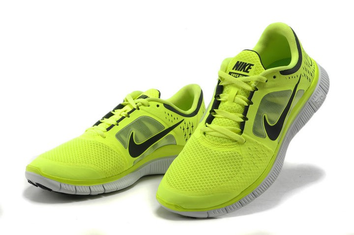 Nike Free Run+ 3 Men\'s Running Shoe Fluorescence Yellow Black