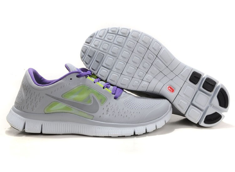 Nike Free Run+ 3 Men's Running Shoe Grey Purple