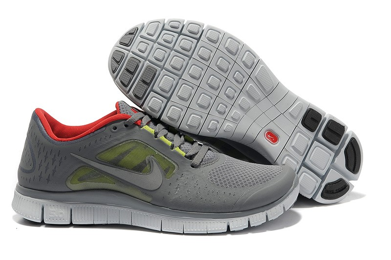 Nike Free Run+ 3 Men's Running Shoe Grey Red
