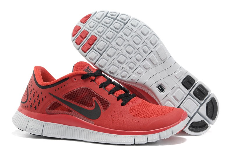 Nike Free Run+ 3 Men's Running Shoe Red Black
