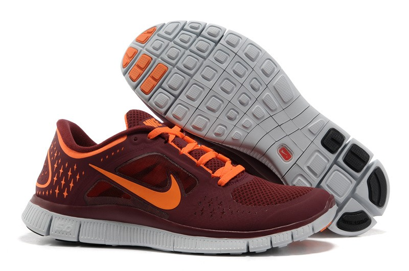 Nike Free Run+ 3 Men's Running Shoe Red Orange