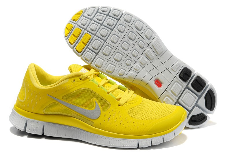 Nike Free Run+ 3 Men's Running Shoe Yellow Silver