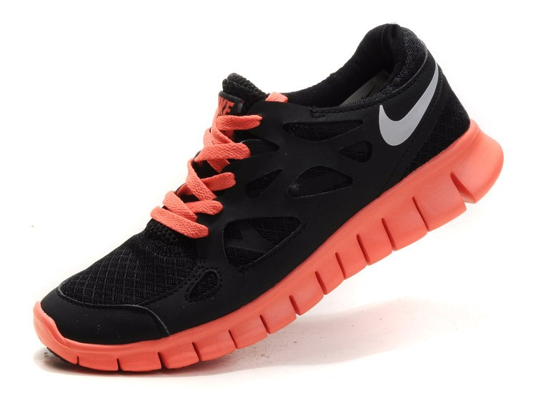 Nike Free Run 2 Womens Running Shoes Anthracite Black Silver Mango