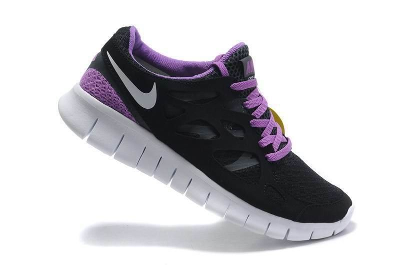 Nike Free Run 2 Womens Running Shoes Anthracite Black White Purple Violet