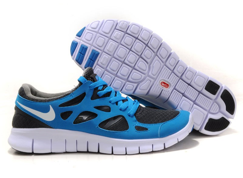 Nike Free Run 2 Womens Running Shoes Blue White Wolf Grey