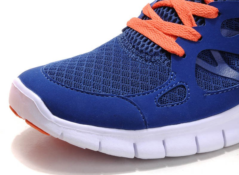 Nike Free Run 2 Womens Running Shoes Drench Blue Orange White
