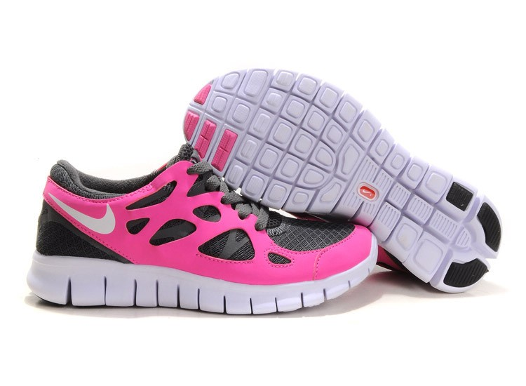 Nike Free Run 2 Womens Running Shoes Grey Sail Pink White