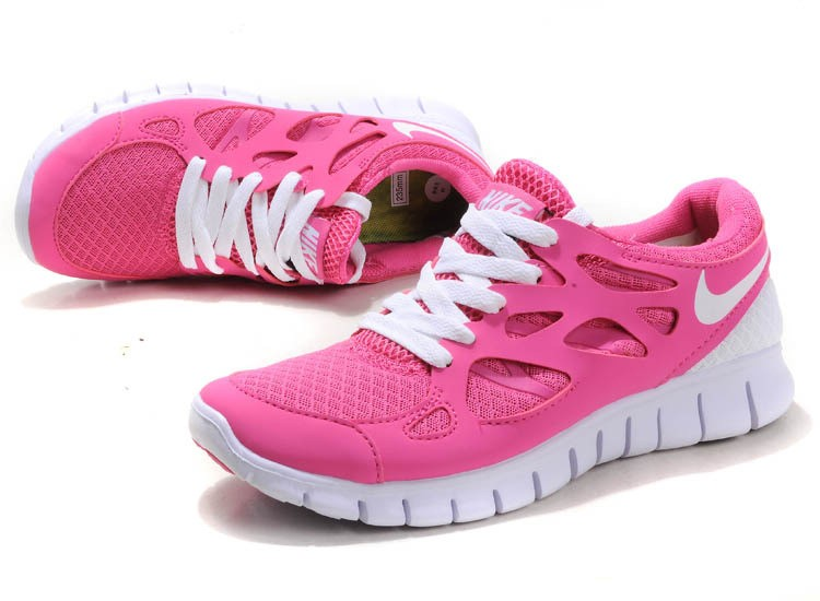 Nike Free Run 2 Womens Running Shoes Pink White