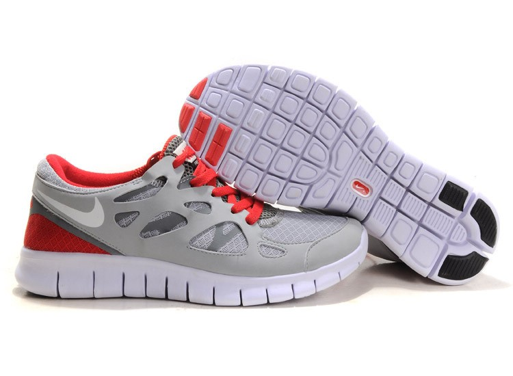 Nike Free Run 2 Womens Running Shoes Sail White Red Grey