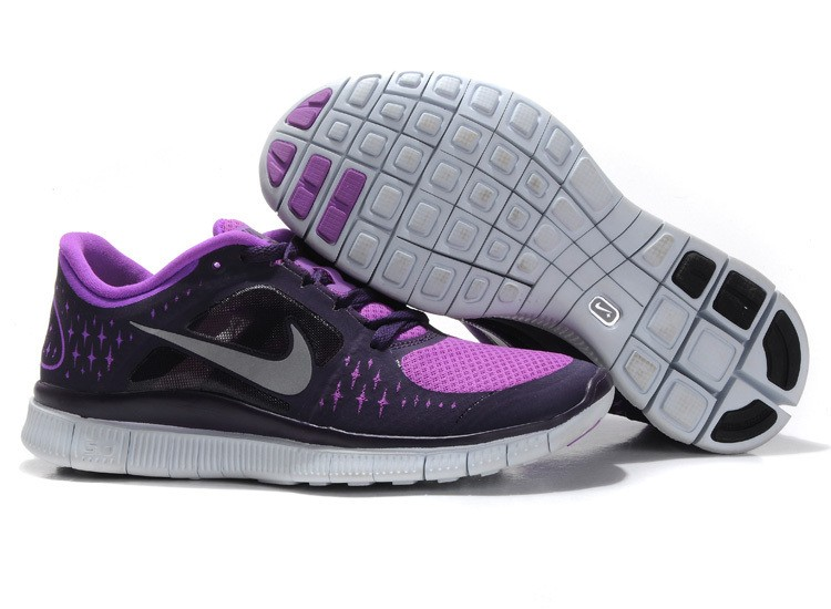 Nike Free Run 3 Womens Running Shoes Black Purple