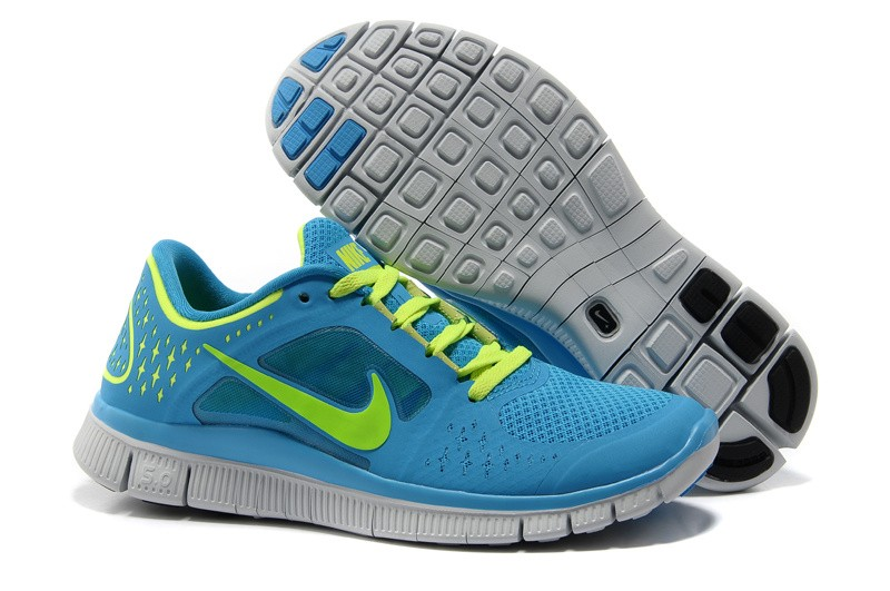 Nike Free Run 3 Womens Running Shoes Blue Green