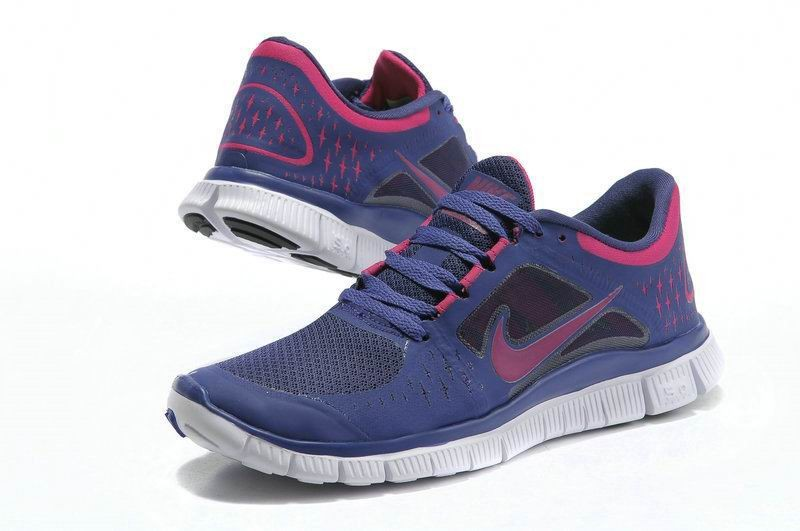 Nike Free Run 3 Womens Running Shoes Blue Red