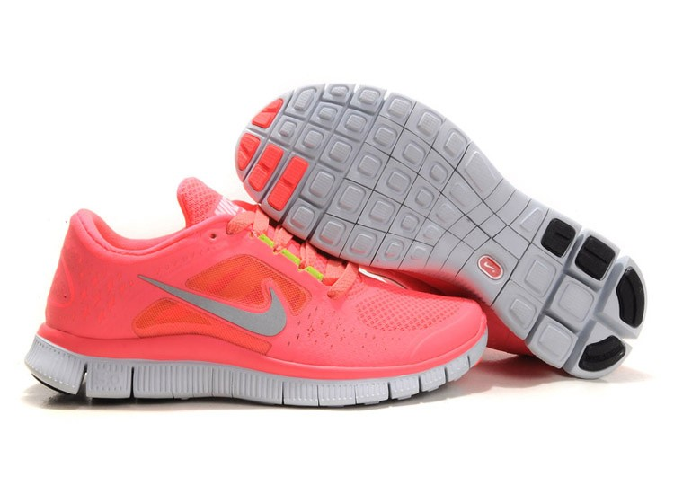 Nike Free Run 3 Womens Running Shoes Coral Hot Punch Pink