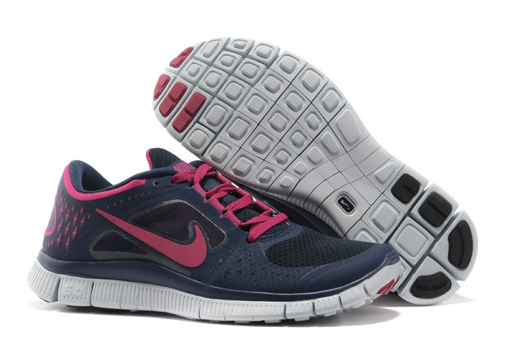 Nike Free Run 3 Womens Running Shoes Dark Blue Peachblow