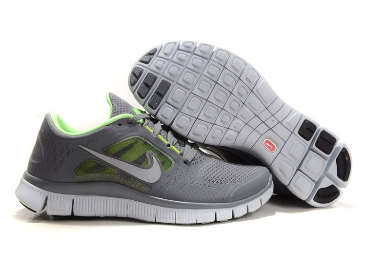 Nike Free Run 3 Womens Running Shoes Dark Grey Green