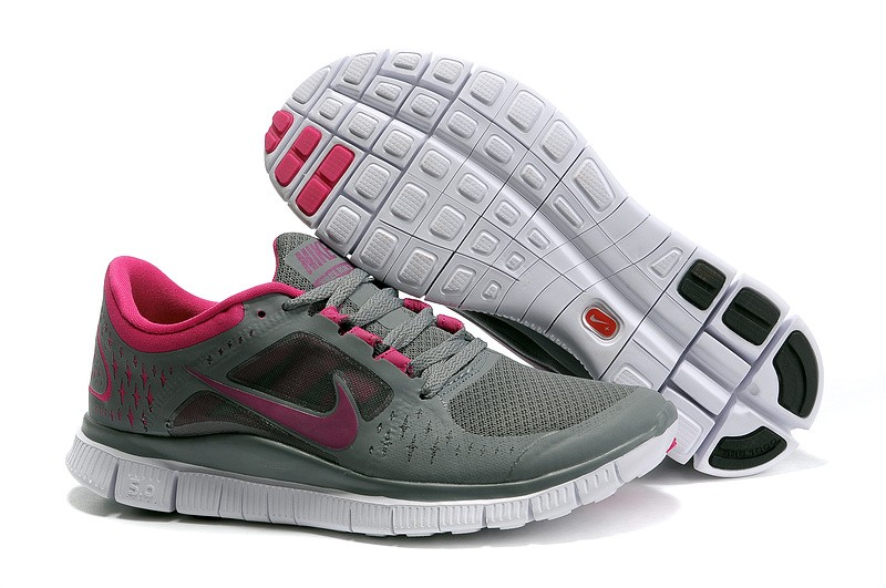 Nike Free Run 3 Womens Running Shoes Deep Grey Fuchsia