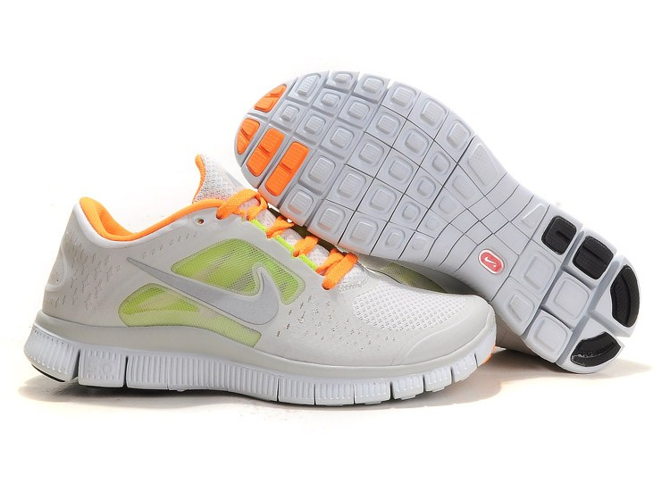 Nike Free Run 3 Womens Running Shoes Grey Orange
