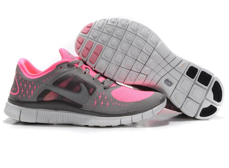 Nike Free Run 3 Womens Running Shoes Pink Grey