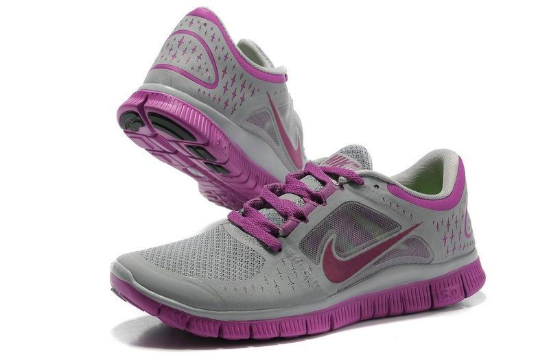 Nike Free Run 3 Womens Running Shoes Purple Grey