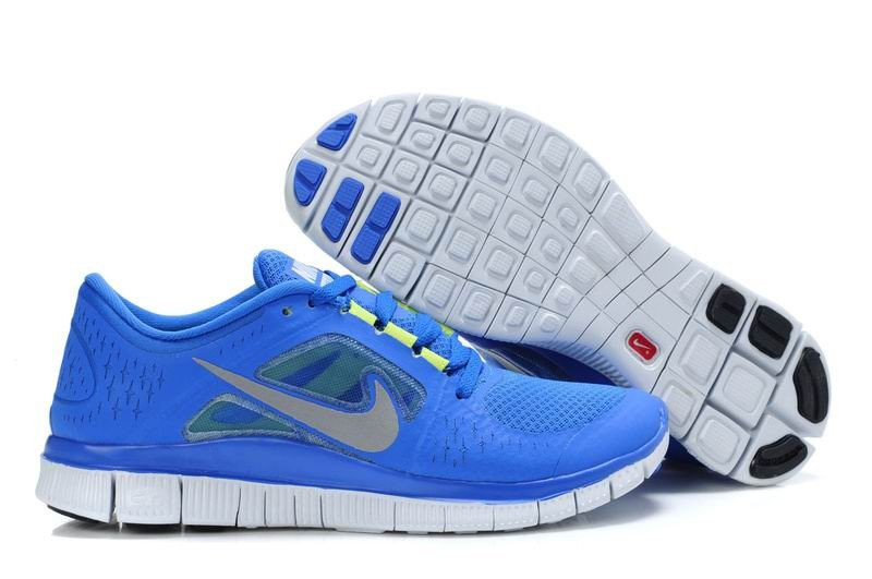 Nike Free Run 3 Womens Running Shoes Royal Blue White