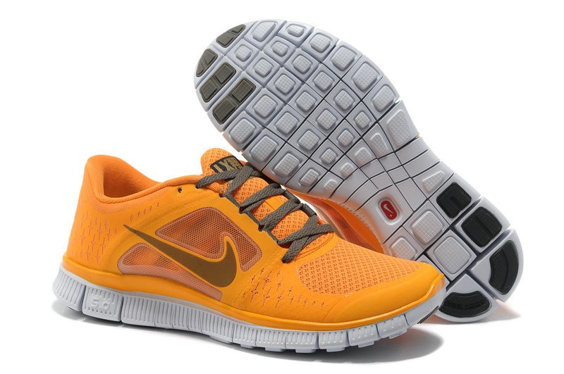 Nike Free Run 3 Womens Running Shoes Yellow Grey