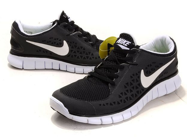 Nike Free Run Mens Shoes Anthracite Black White