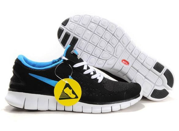 Nike Free Run Mens Shoes Black Anthracite Royal