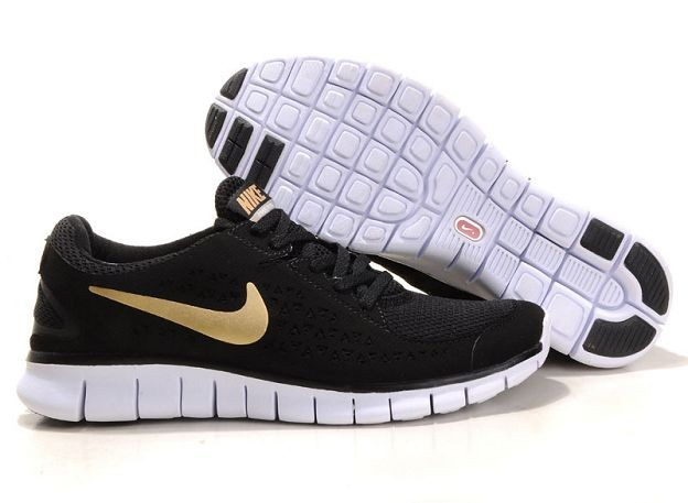 Nike Free Run Mens Shoes Black Gold