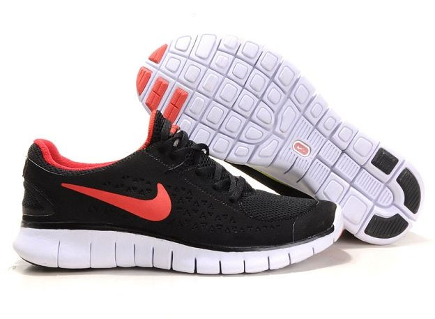Nike Free Run Mens Shoes Black Team Red