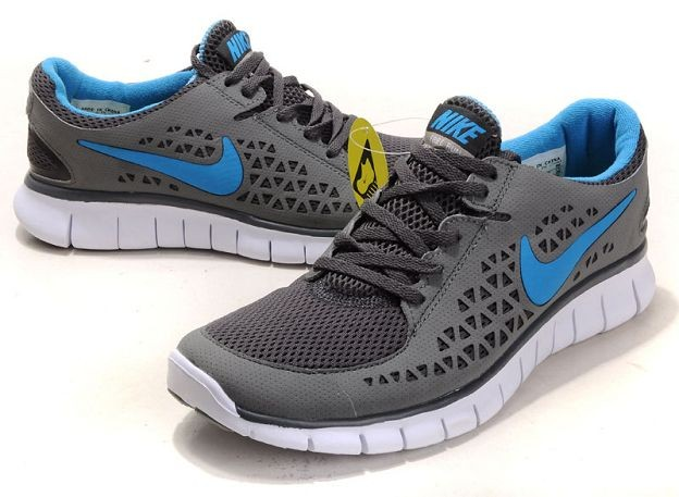 Nike Free Run Mens Shoes Dark Grey Royal White