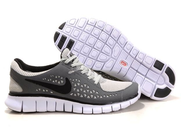 Nike Free Run Mens Shoes Dark Grey White Black