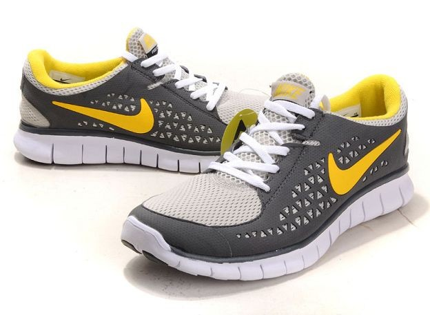 Nike Free Run Mens Shoes Dark Grey White Maize
