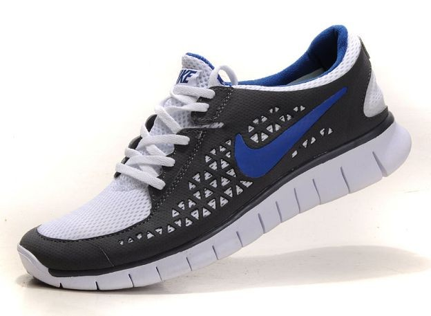 Nike Free Run Mens Shoes Dark Grey White Royal