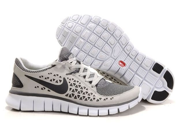 Nike Free Run Mens Shoes Grey Beige Cool Grey