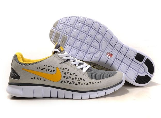 Nike Free Run Mens Shoes Grey Beige Maize