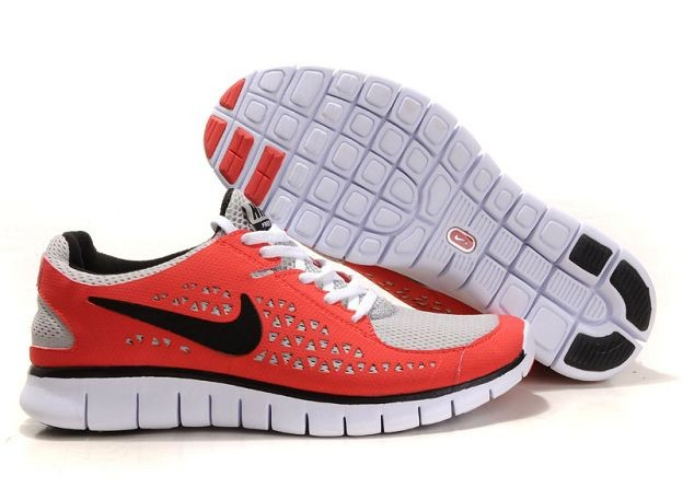 Nike Free Run Mens Shoes Siren Red Grey Black