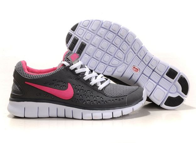 Nike Free Run Womens Shoes Dark Grey Pink