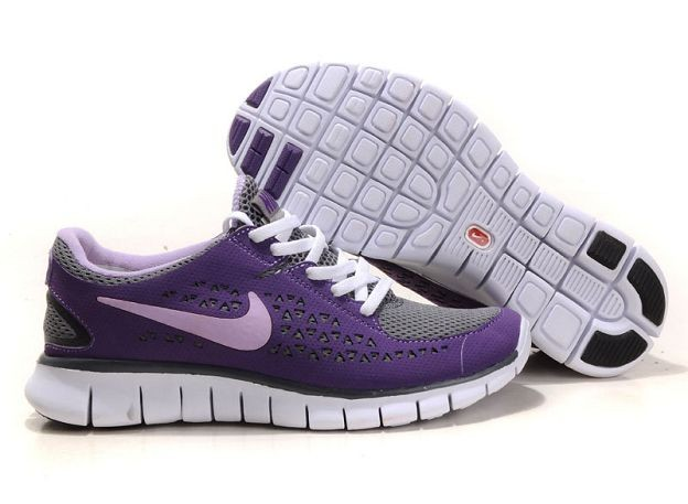 Nike Free Run Womens Shoes Pure Purple Dark Grey