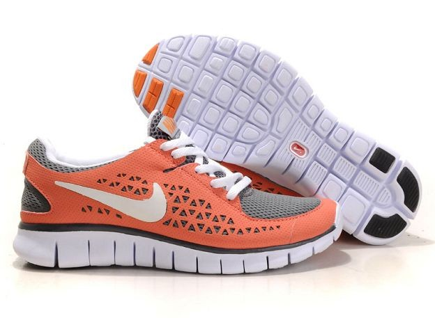 Nike Free Run Womens Shoes Siren Red Grey White