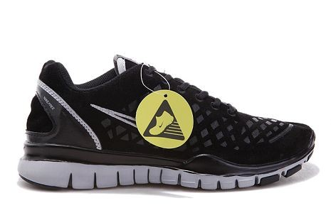 Nike Free TR Fit 2 Mens Running Shoes Black Grey