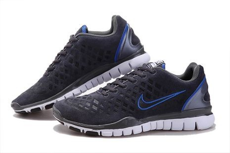 Nike Free TR Fit 2 Mens Running Shoes Dark Grey Blue