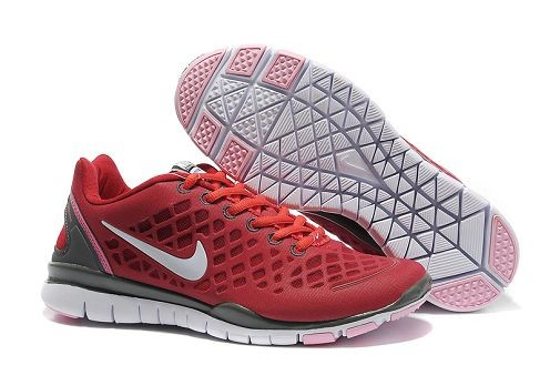 Nike Free TR Fit 2 Womens Running Shoes Light Scarlet Red Dimgray
