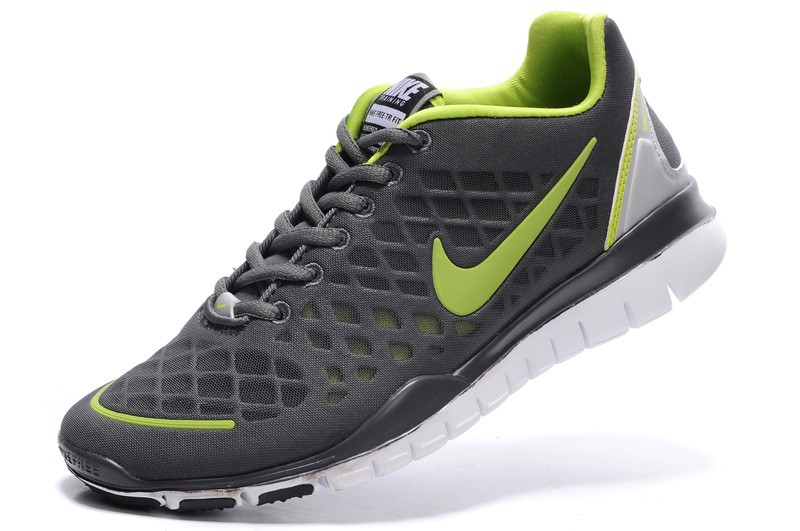 Nike Free TR Fit Mens Training Shoes Grey Green