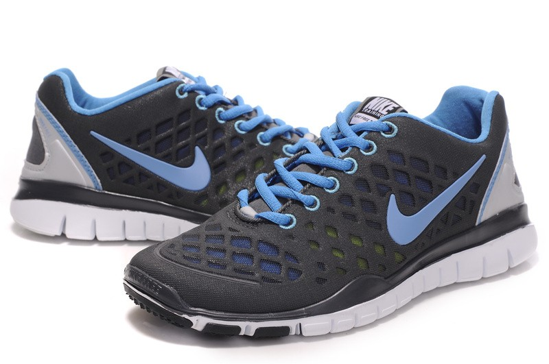 Nike Free TR Fit Womens Training Shoes Grey Blue